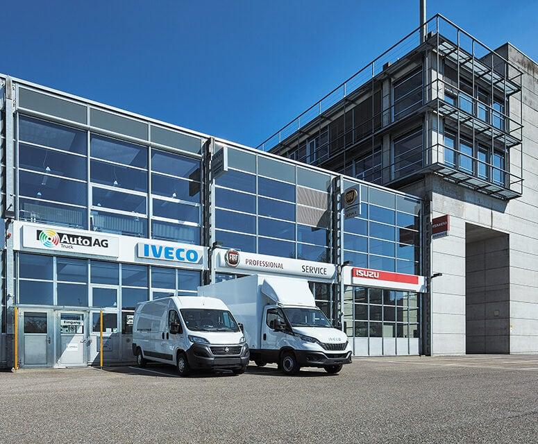 Auto AG Truck am Standort Gossau mit IVECO, MAN und Fiat Professional Markenvertretung