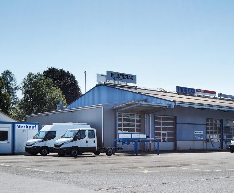 Auto AG Truck am Standort Müllheim mit IVECO, MAN und Fiat Professional Markenvertretung