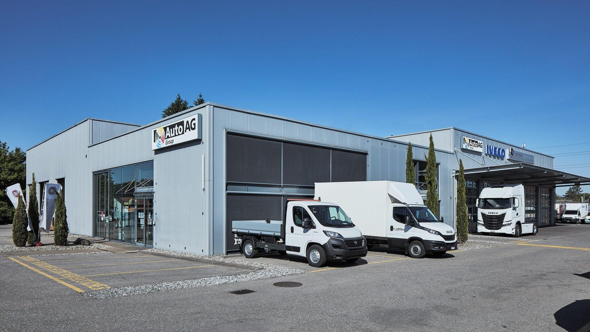 Auto AG Truck am Standort Schönbühl mit IVECO, MAN und Fiat Professional Markenvertretung
