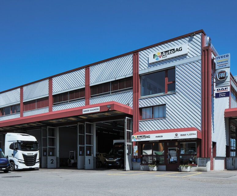Auto AG Truck am Standort Staad mit IVECO, MAN und Fiat Professional Markenvertretung
