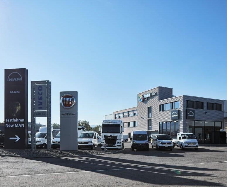 Auto AG Truck am Standort Weiningen mit IVECO, MAN und Fiat Professional Markenvertretung